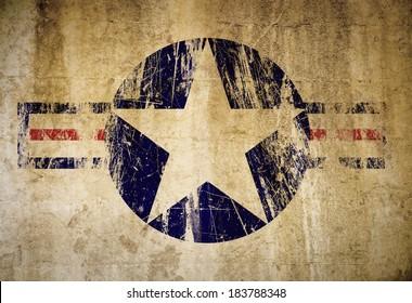 Grunge American Military Symbol