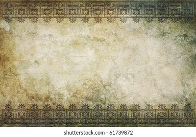 grunge background with american indian pattern and space for text or image