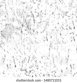 Grunge background black and white. Monochrome vector seamless texture