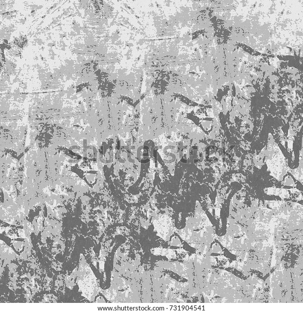 Grunge background of grey. Abstract texture monochrome. Vintage retro pattern of spots, scratches, cracks