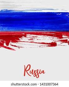Grunge background with grunge lines in Russia flag colors. Concept for Independence day poster, flyer, banner, etc.
