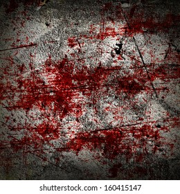 grunge background with some red blood splatter on it