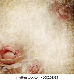 Grunge beige wedding background