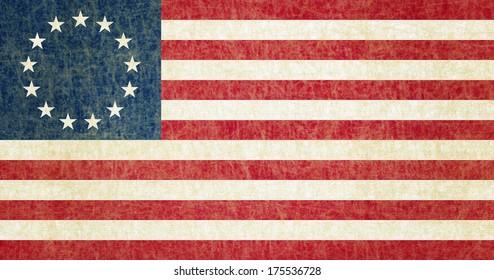 Grunge Betsy Ross Flag