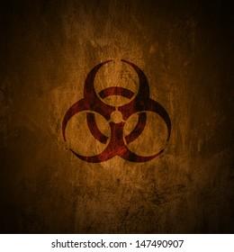 Grunge biohazard symbol.