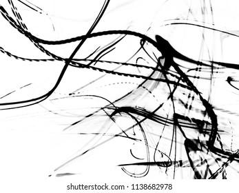 grunge black ink paint.isolated on white background.