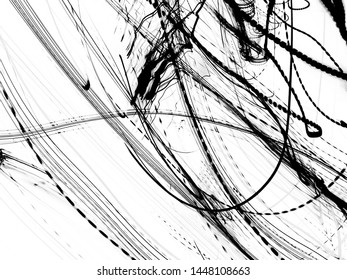 grunge black ink paint.isolated on white background.for new design art or Illustrations