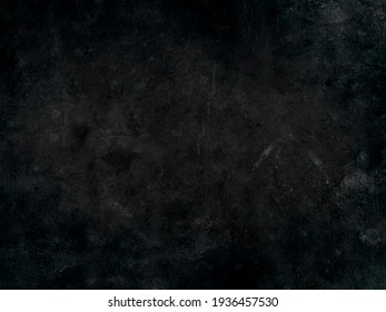 Grunge black watercolor background with dark gray cracks and wrinkled creases on old grainy paper in abstract painted vintage illustration