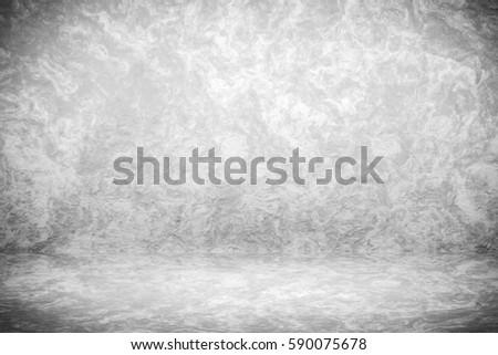 Grunge Black White Studio Backdrop Space Stock Illustration