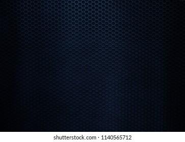 grunge blu metal grid background