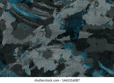 grunge camouflage pattern old absract background