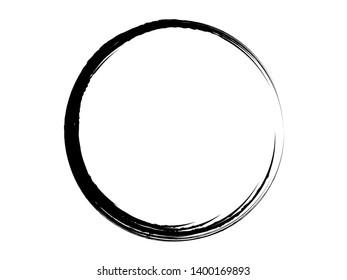 Grunge circle.Grunge oval shape.Grunge  black paint frame.Grunge logo design.