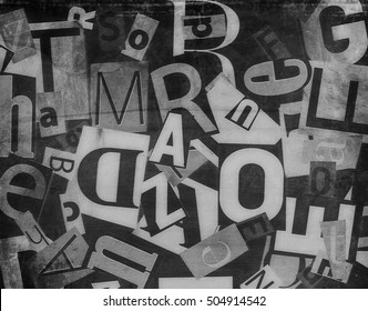 grunge collage of letters background