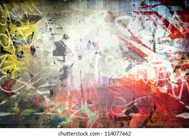 Grunge colorful background, yellow and red color illustration