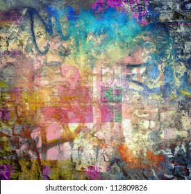 Grunge colorful texture, graffiti background