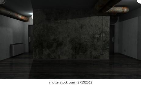 Grunge empty room