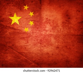Grunge Flag of China.