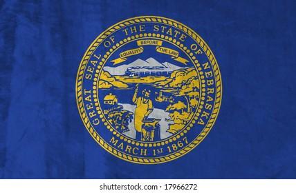 Grunge Flag of Nebraska