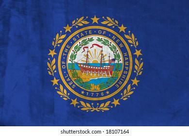Grunge Flag of New Hampshire