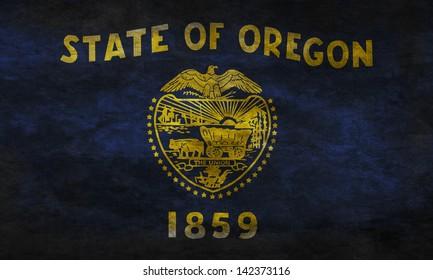 Grunge flag of Oregon