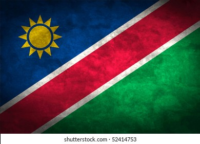 Grunge flag series of all sovereign countries - Namibia