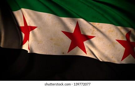 Grunge flag of Syria Republic