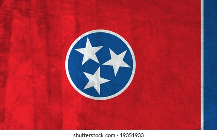 Grunge Flag of Tennessee