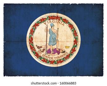 Grunge flag of Virginia (USA)