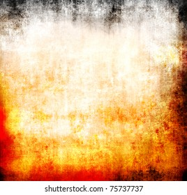 Grunge flame abstract template