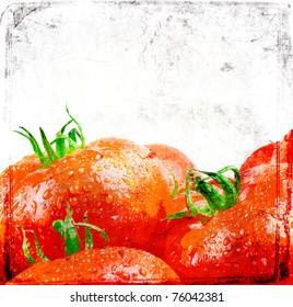 Grunge food poster for decoration