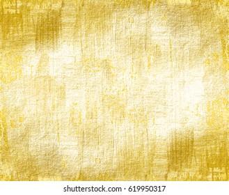 Grunge gold background. Distress wall texture