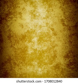 Grunge gold concrete wall. abstract Background.