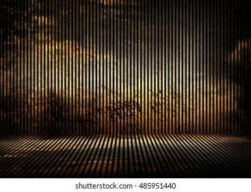 grunge gold iron interior background