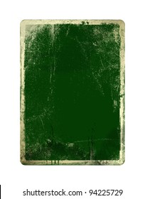 Grunge green card for st Patrick on the  white isolated background