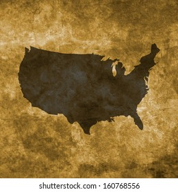 Grunge illustration with the map of United States