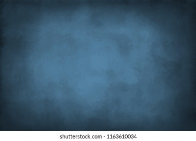 Grunge indigo blue with vignette empty copy space background