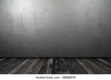 Grunge interior with concrete wall