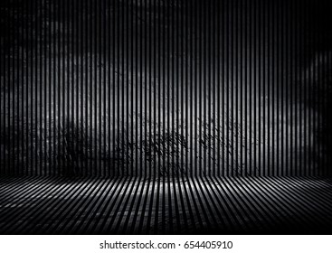 grunge iron striped interior background