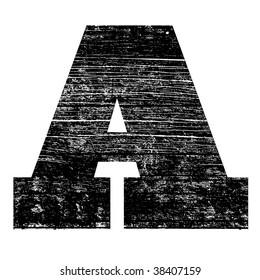 grunge letter A alphabet symbol design