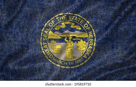 Grunge Nebraska state Flag