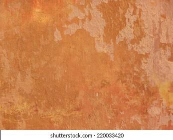 Grunge orange wall texture - terracotta background