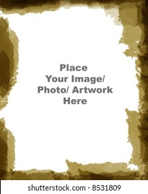 Grunge Paper texture photo frame border. Ready to use to frame your photo or artwork in photoshop.