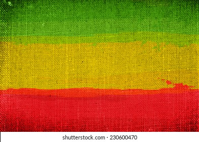 Grunge rasta flag as a background