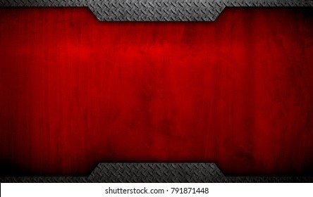 grunge red metal template background