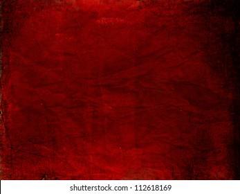 Grunge red old paper texture, vintage background