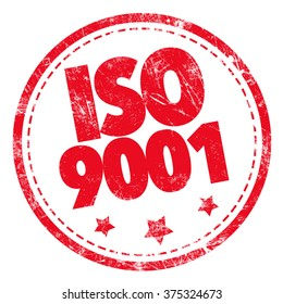 Grunge rubber stamp with text - ISO 9001