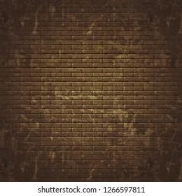 Grunge seamless brick wall background - Illustration