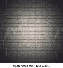 Grunge seamless brick wall background - Illustration
