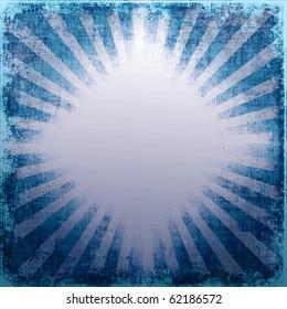 Grunge Star Burst Rays With Shining Diamond Shape Copy Space