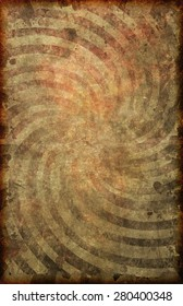 A grunge style vintage looking and faded poster background with swirl pattern on old paper texture 11X17 format.